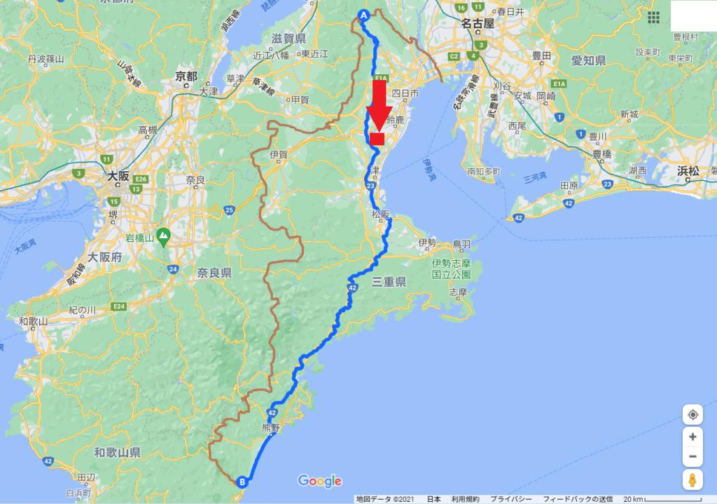 三重県縦断、道の駅津あわげ地図