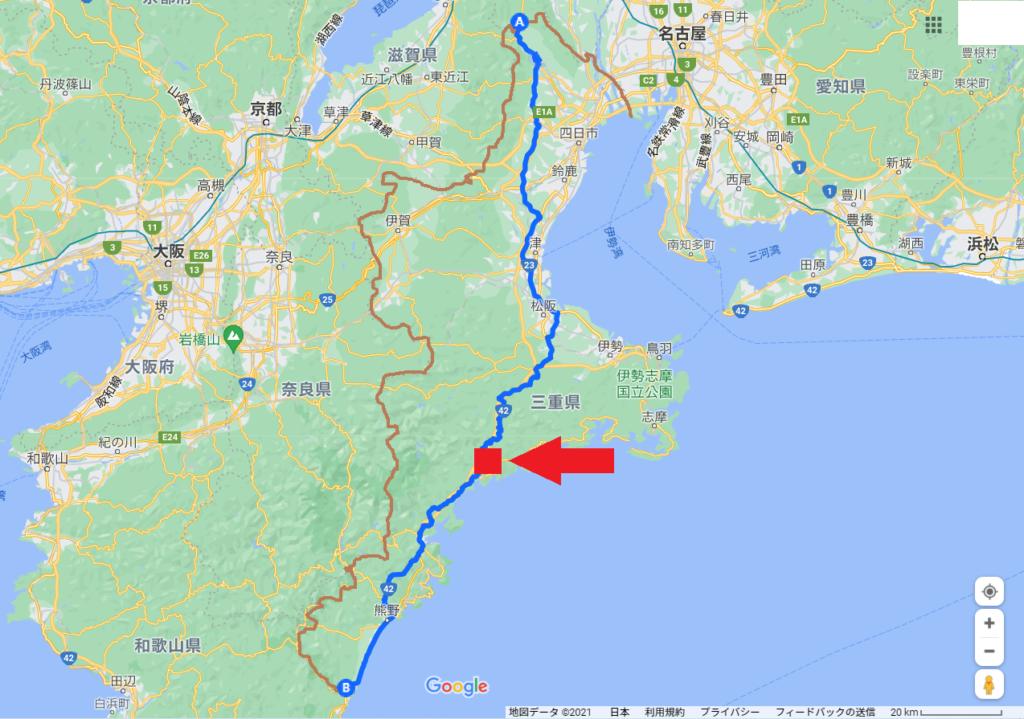 三重県縦断地図、荷坂峠、マンボウの丘